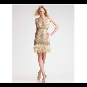Sue Wong Art Deco beaded feather dress